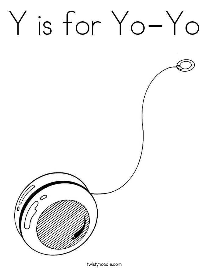 Y is for Yo-Yo Coloring Page