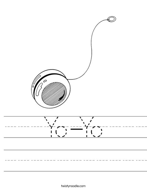 Yo-Yo Worksheet