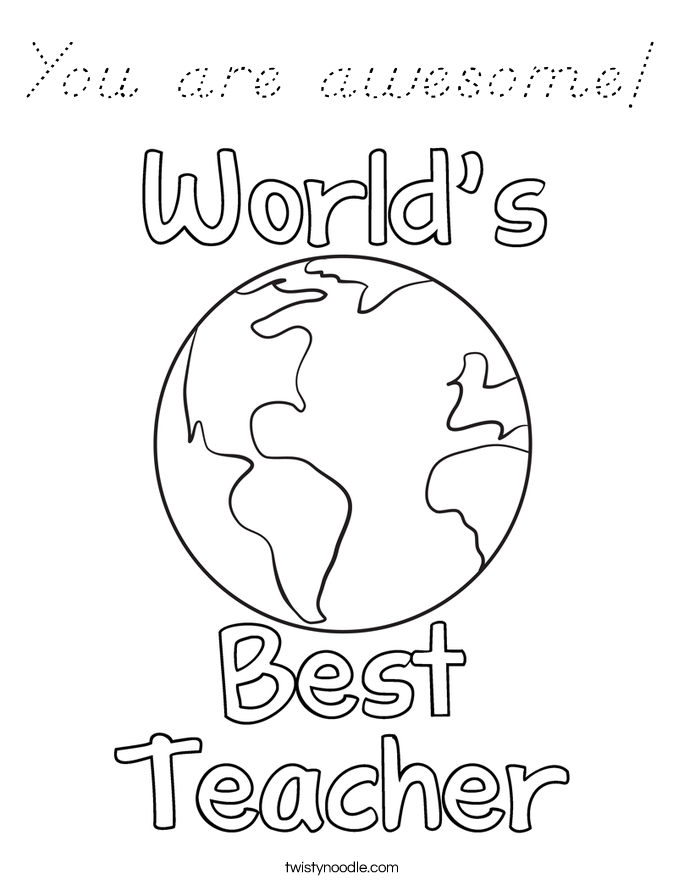 You are awesome! Coloring Page