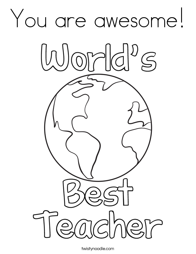 best teacher coloring pages - photo#13