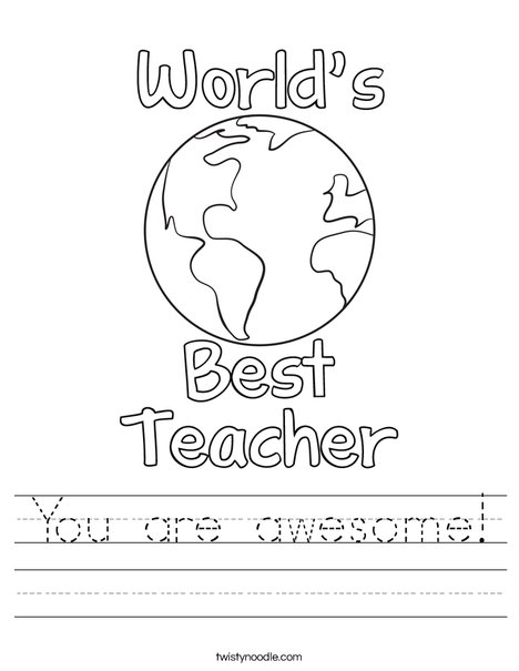 You are awesome! Worksheet