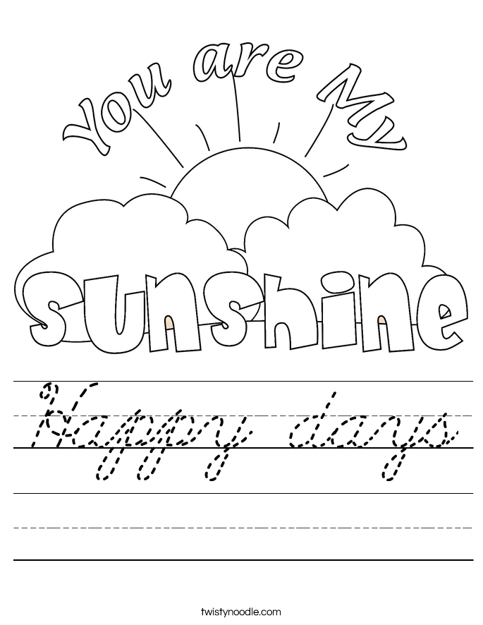 Happy days Worksheet