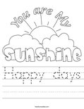 Happy days Worksheet