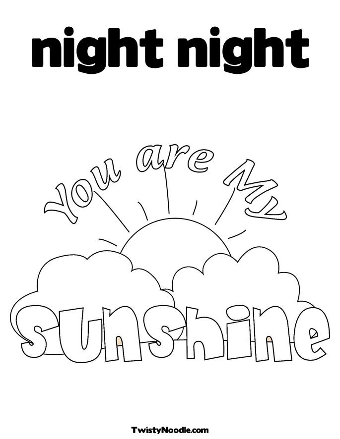 night and day coloring pages - photo#5