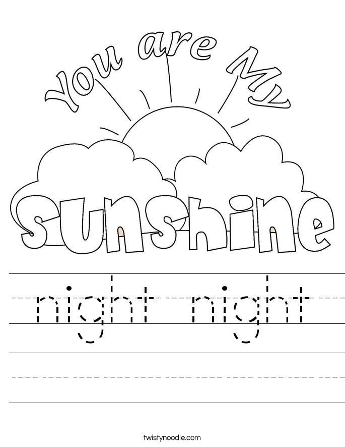 night night Worksheet