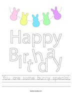You are some bunny special Handwriting Sheet