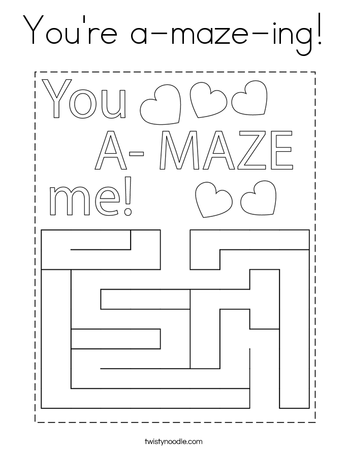 You're a-maze-ing! Coloring Page