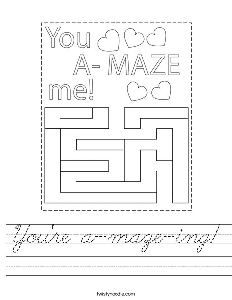 You're a-maze-ing! Worksheet