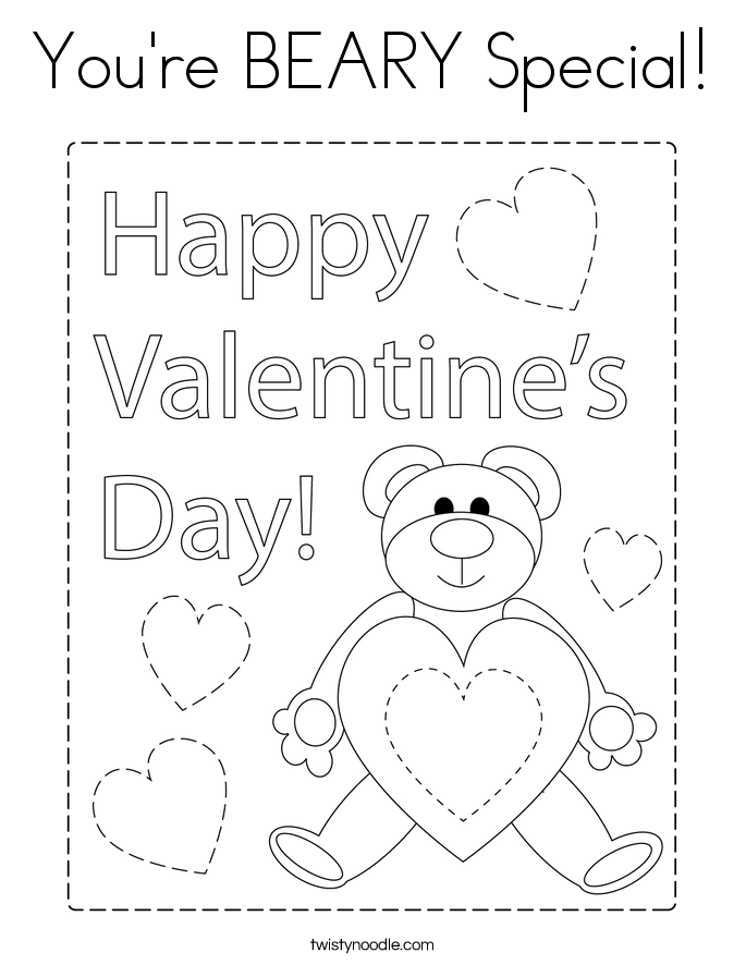 You're BEARY Special! Coloring Page