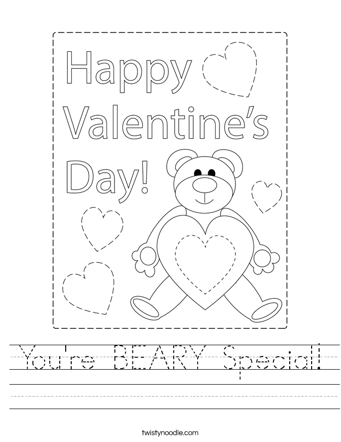 You're BEARY Special! Worksheet
