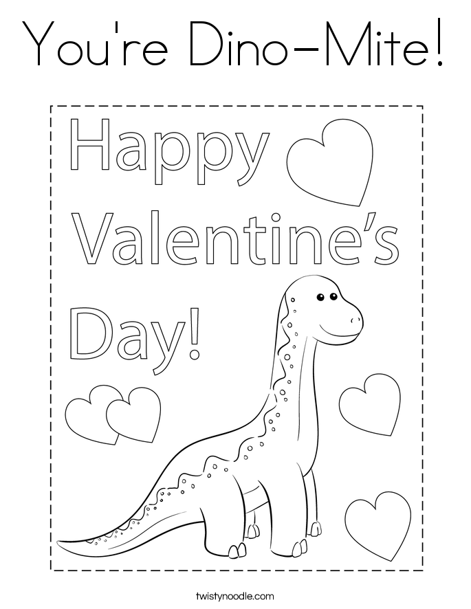 You're Dino-Mite! Coloring Page