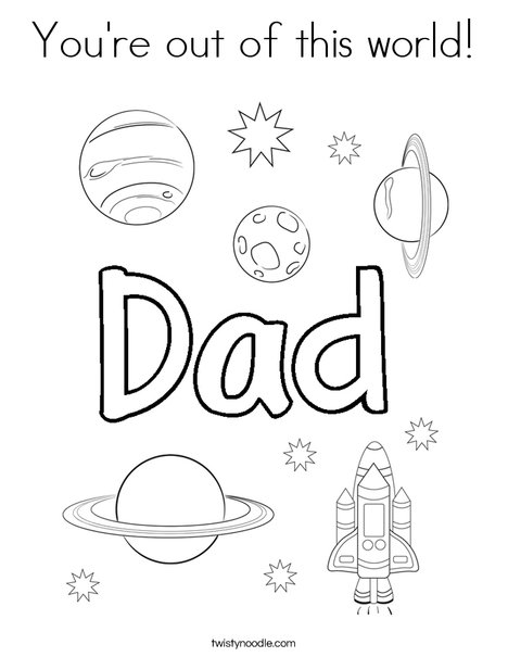 You're out of this world! Coloring Page