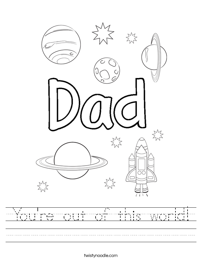 You're out of this world! Worksheet