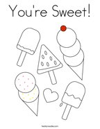 You're Sweet Coloring Page