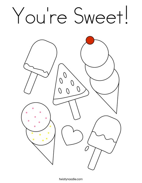 You're Sweet! Coloring Page