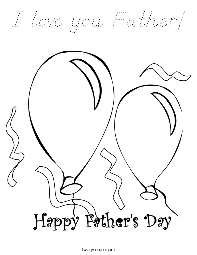 I love you Father! Coloring Page