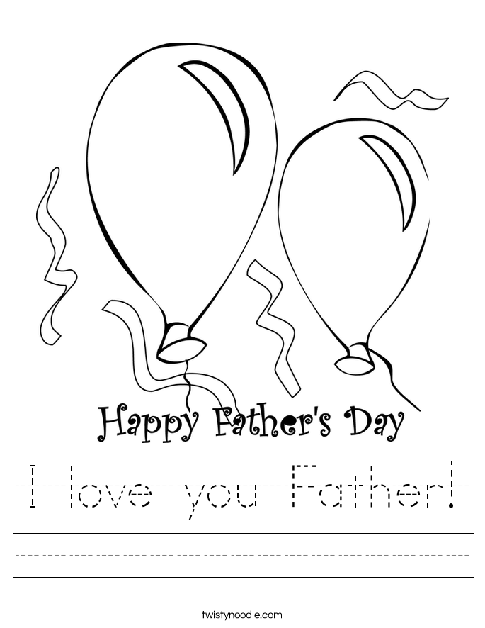 I love you Father! Worksheet