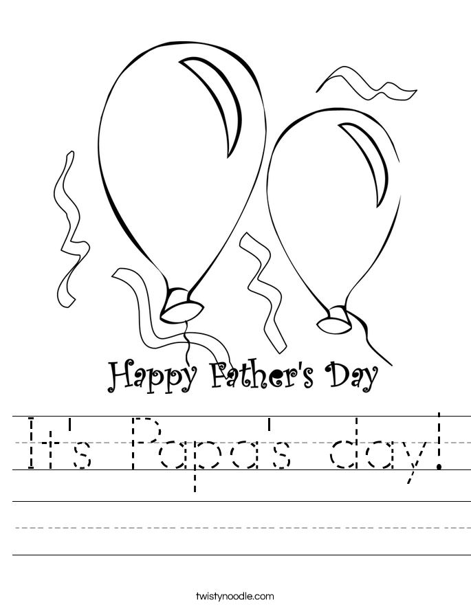 It's Papa's day! Worksheet