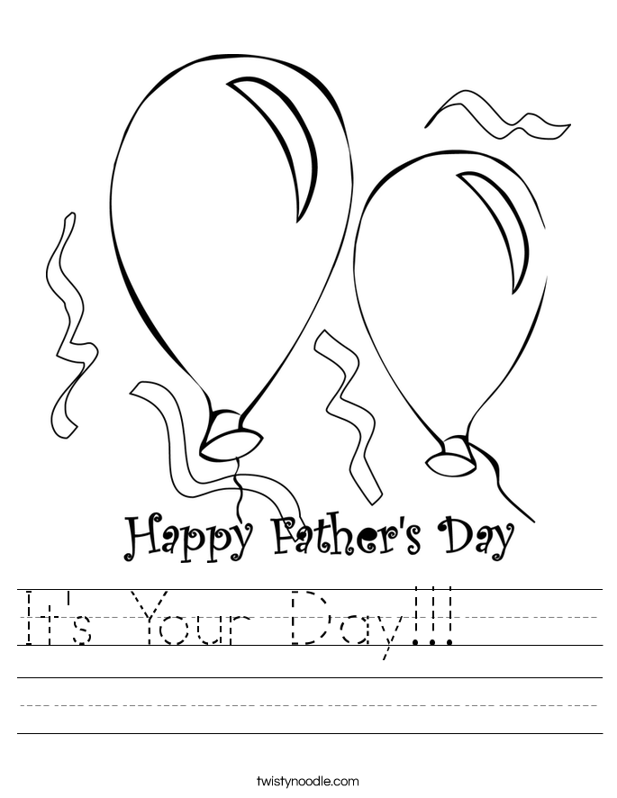 It's Your Day!!!     Worksheet