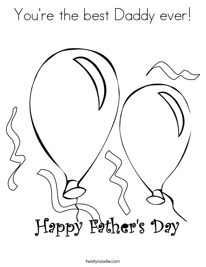 You're the best Daddy ever! Coloring Page