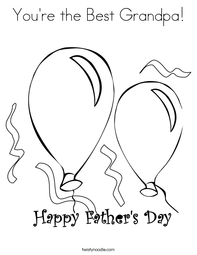 You're the Best Grandpa! Coloring Page