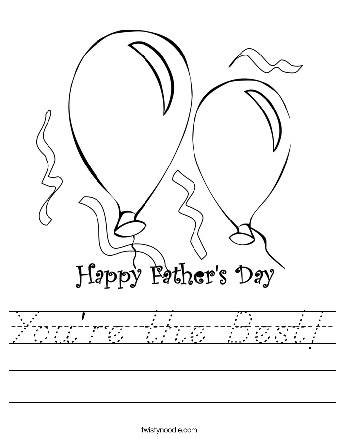 You're the Best! Worksheet