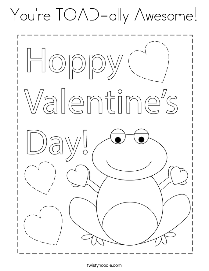 You're TOAD-ally Awesome! Coloring Page