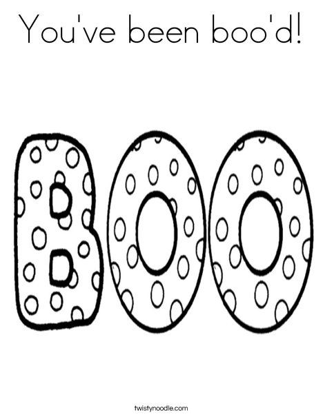 You've been Boo'd! Coloring Page
