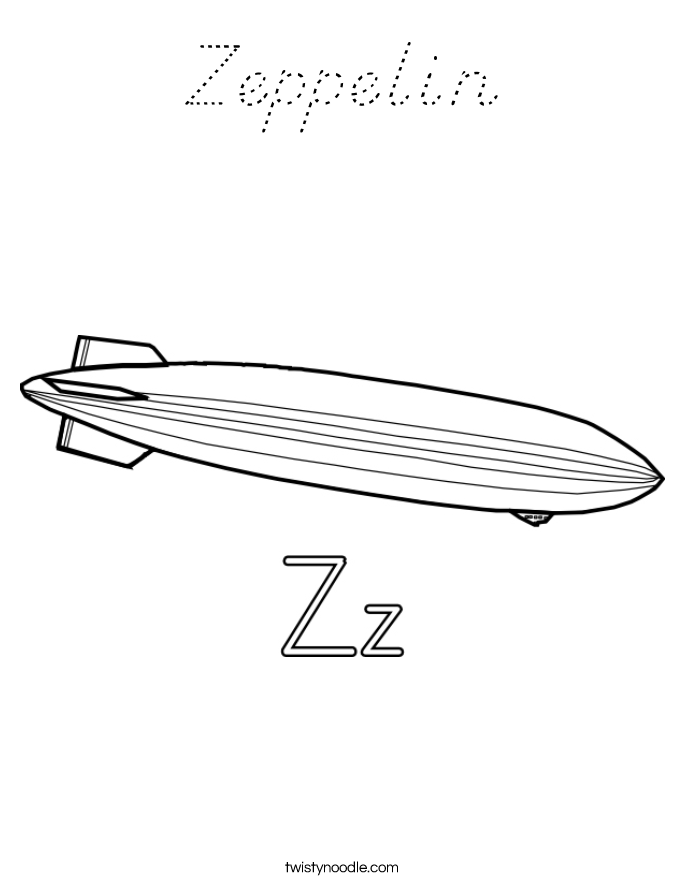 Zeppelin Coloring Page