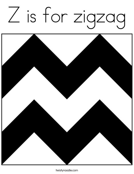 Z is for Zigzag Coloring Page