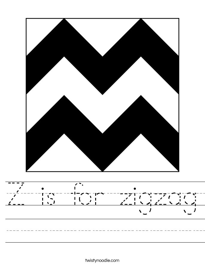 Z is for zigzag Worksheet