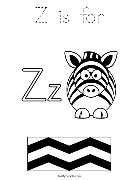 Z is for Coloring Page