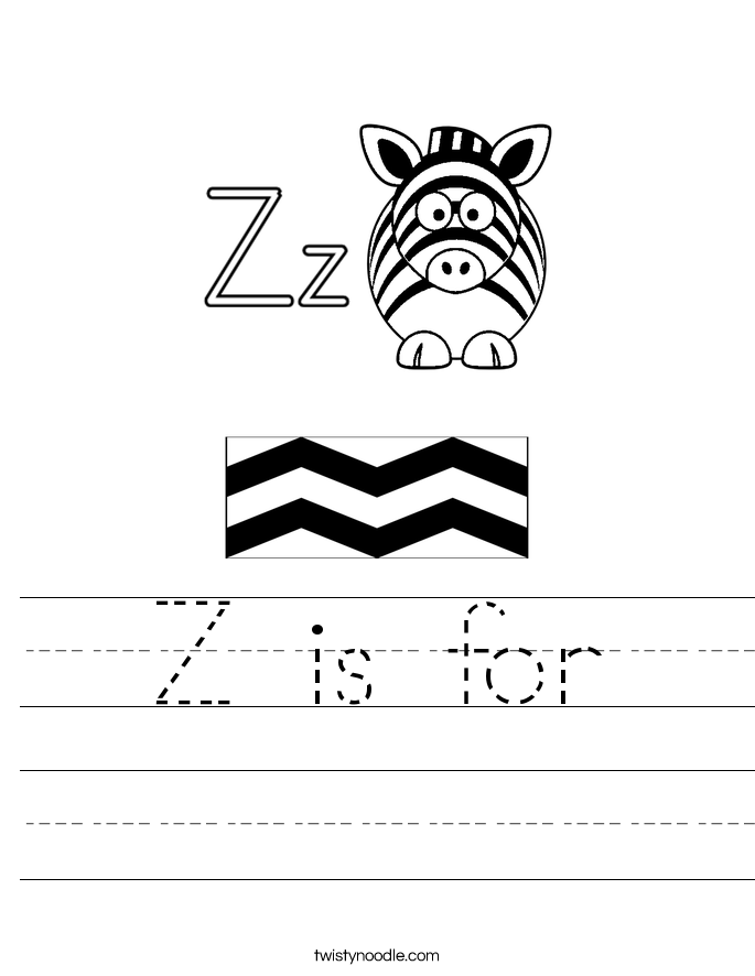 Z is for Worksheet - Twisty Noodle