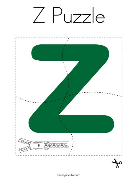 Z Puzzle Coloring Page