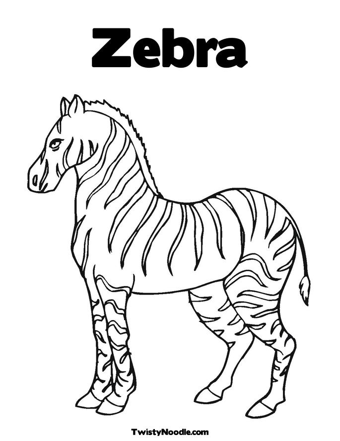 zebra striped coloring pages - photo#13