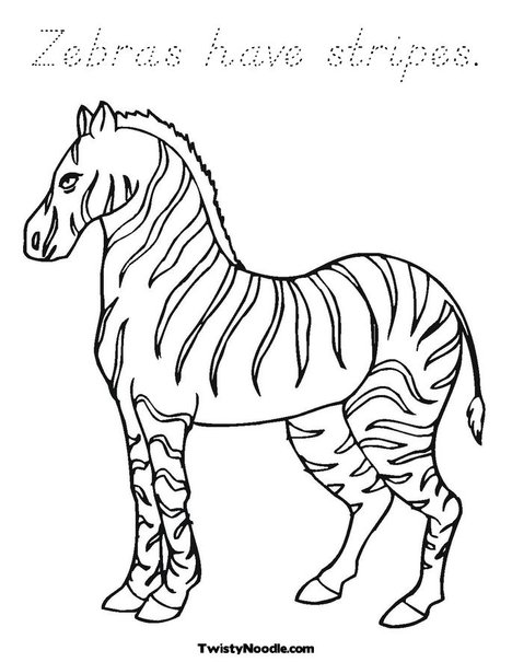 How to draw zebra stripes for Coloring pages of zebra stripes