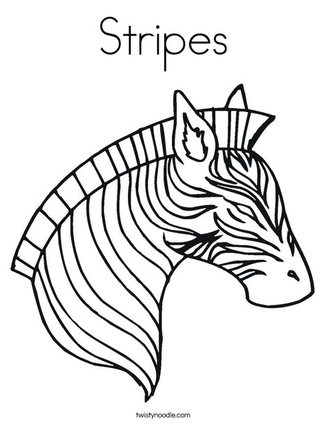 Stripes coloring page twisty noodle for Coloring pages of zebra stripes