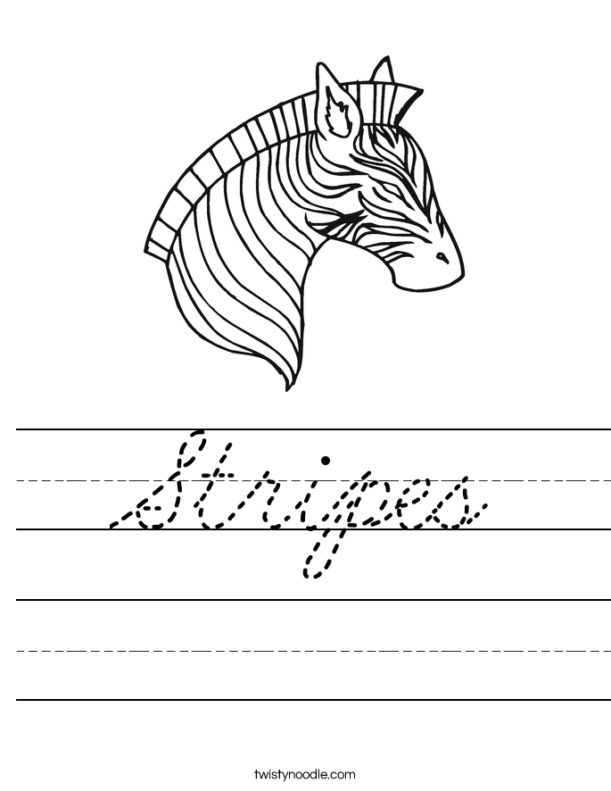 Stripes Worksheet