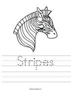 Stripes Handwriting Sheet