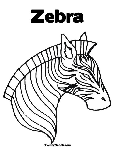 zebra family coloring pages - photo#27