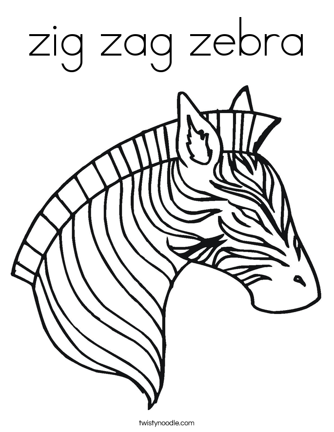 Zig Zag Zebra Coloring Book | Coloring Pages