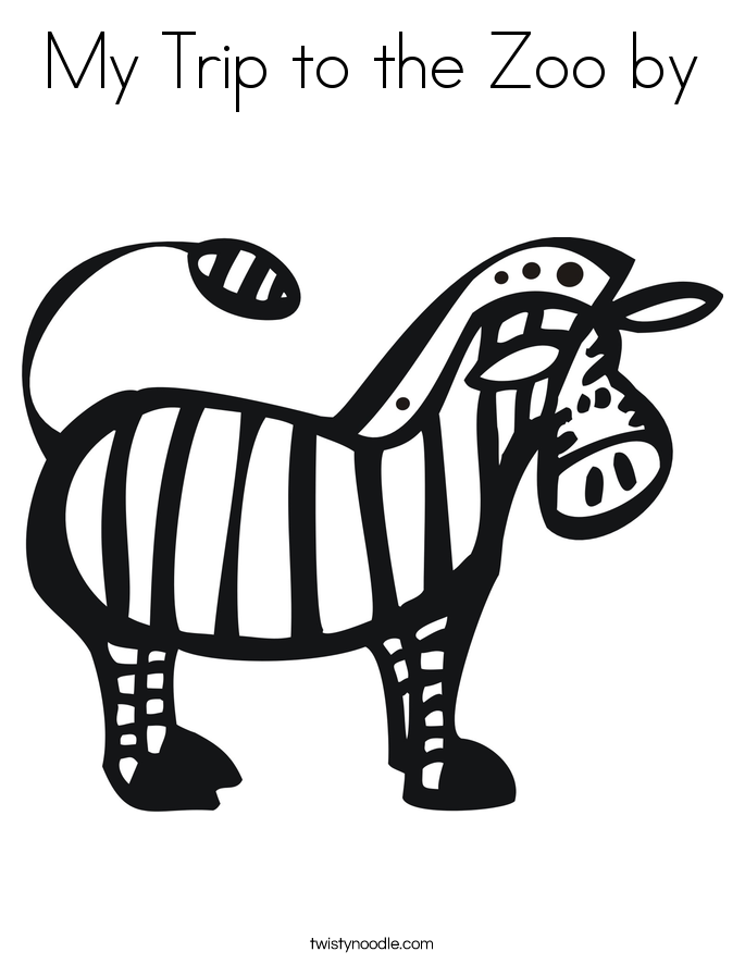 My Trip to the Zoo by Coloring Page