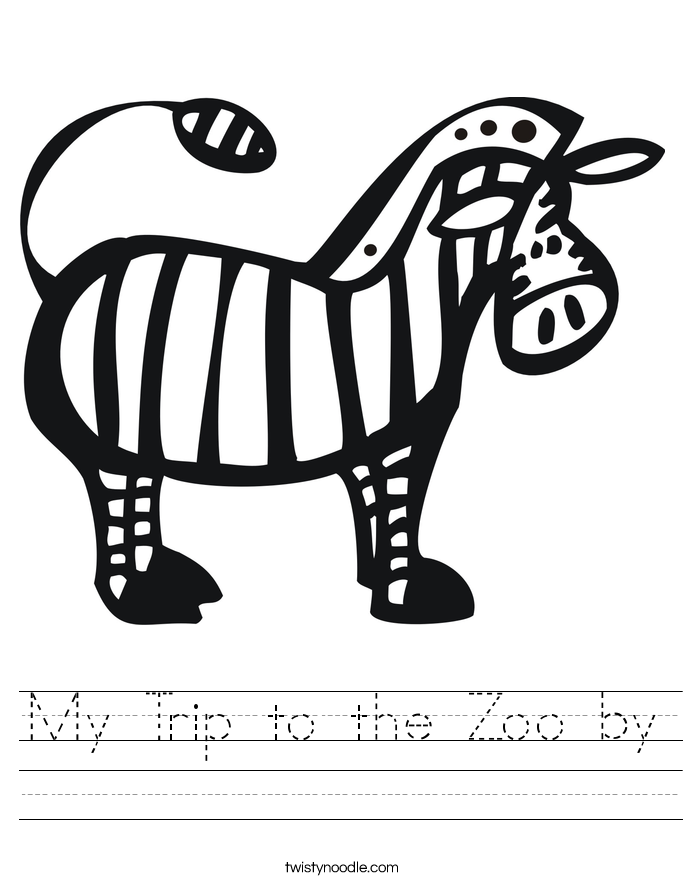 My Trip to the Zoo by Worksheet