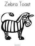 Zebra ToastColoring Page