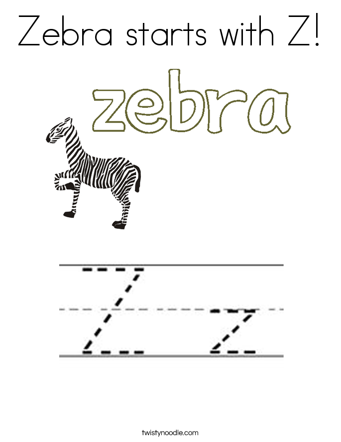 z word coloring pages - photo #28