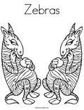 Zebras Coloring Page