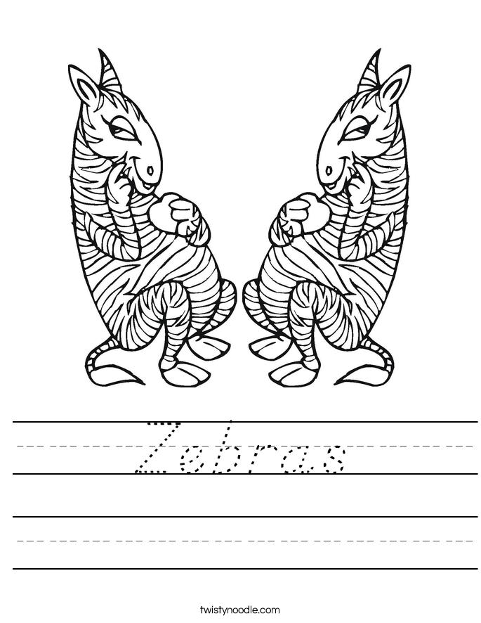 Zebras Worksheet