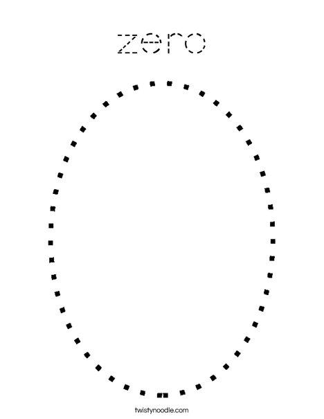 Zero Coloring Page