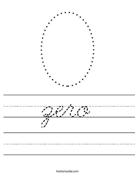 Zero Worksheet