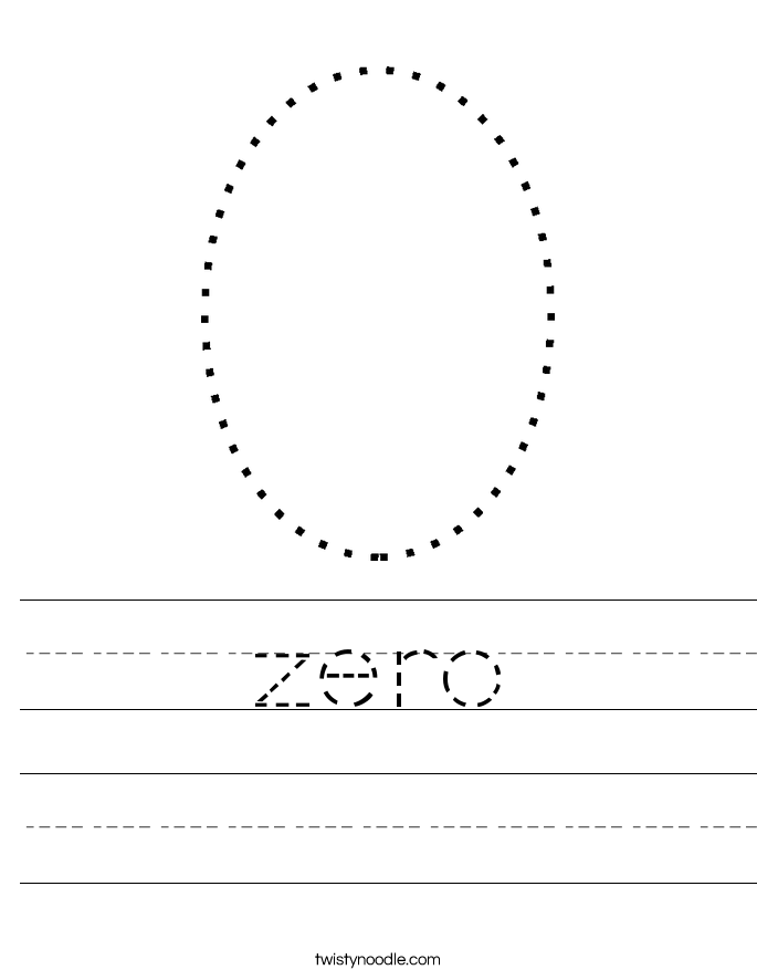 zero Worksheet